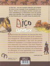 Le dico des chevaux - 4ème de couverture - Format classique