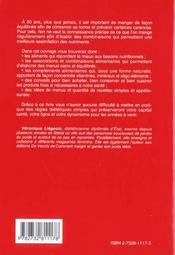 La Cinquantaine Radieuse - Dietetique Et Combinaisons Alimentai - 4ème de couverture - Format classique