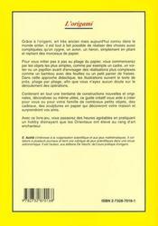 L'Origami - 4ème de couverture - Format classique
