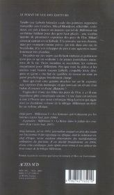 Millénium t.2 ; la fille qui rêvait d'un bidon d'essence et d'une allumette - 4ème de couverture - Format classique