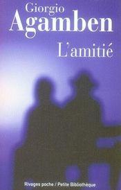 L'amitie - Intérieur - Format classique