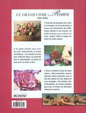 Grand Livre Des Roses (Le) - 4ème de couverture - Format classique