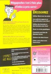 Word, excel, access et powerpoint 2003 pour les nuls - 4ème de couverture - Format classique