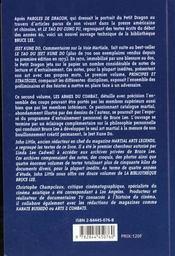 Jeet Kune Do T2 : Les Armes Du Combat - 4ème de couverture - Format classique