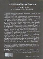 Le mystérieux docteur Cornélius t.9 et t.10 - 4ème de couverture - Format classique
