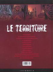 Le territoire t.3 ; disparition - 4ème de couverture - Format classique