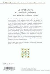 Le Christianisme Au Miroir Du Judaisme - 4ème de couverture - Format classique