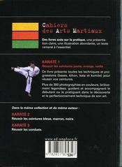 Karate T.1 ; Reussir Vos Ceintures Jaune, Orange, Verte - 4ème de couverture - Format classique