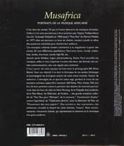 Musafrica - 4ème de couverture - Format classique