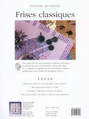 Pochoirs Decoratifs, Motifs Classiques - 4ème de couverture - Format classique