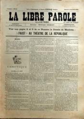 Libre Parole Illustree (La) N°115 du 21/09/1895 - Couverture - Format classique