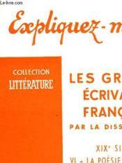 Les Grands Ecrivains Francais - Tome Vi - La Poesie Symboliste ( Des Precurseurs A Baudelaire) - Couverture - Format classique