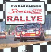 Fabuleuses simca 1000 rallye - Intérieur - Format classique