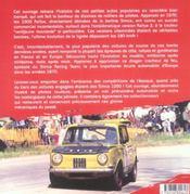 Fabuleuses simca 1000 rallye - 4ème de couverture - Format classique