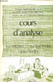 Cours D'Analyse (2e Ed ) - Couverture - Format classique