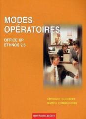 Modes opératoires office xp+ethnos 2.5 - Couverture - Format classique