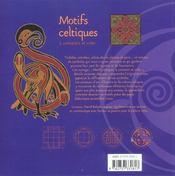 Motifs Celtiques A Connaitre Et Creer - 4ème de couverture - Format classique