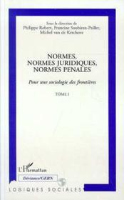 Normes, Normes Juridiques, Normes Penales ; Pour Une Sociologie Des Frontieres T.1 - Couverture - Format classique