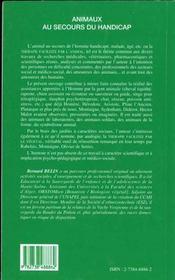 Animaux Au Secours Du Handicap - 4ème de couverture - Format classique