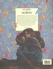 Le noel de marion - 4ème de couverture - Format classique