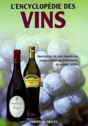 Encyclopedie Des Vins - Couverture - Format classique