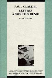 Lettres à son fils Henri - Couverture - Format classique