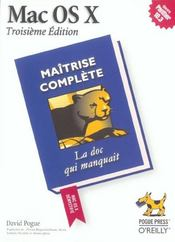 Mac Os X Maitrise Complete 3e Edition - Intérieur - Format classique