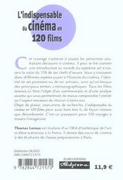 120 films pour comprendre le cinema - 4ème de couverture - Format classique