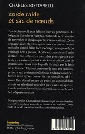 Corde Raide Et Sac De Noeuds - 4ème de couverture - Format classique