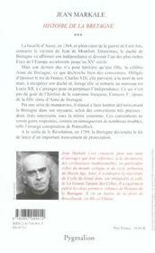 Histoire De La Bretagne T.3 - 4ème de couverture - Format classique