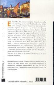 Amer azur ; artistes et écrivains à sanary - 4ème de couverture - Format classique