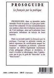 Prosoguide - 4ème de couverture - Format classique