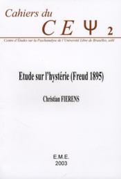 Étude sur l'hystérie (Freud, 1895). - Couverture - Format classique