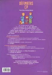 Defi Maths ; Cp ; T.1 ; Fiches A Photocopier - 4ème de couverture - Format classique