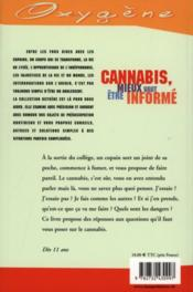 Cannabis, Mieux Vaut Etre Informe - 4ème de couverture - Format classique