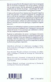 Main-D'Oeuvre Etrangere Et Diversite Des Competences ; Quelle Valorisation Dans Les Entreprises - 4ème de couverture - Format classique