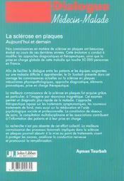 La Sclerose En Plaques: Aujourd'Hui Et Demain - 4ème de couverture - Format classique