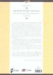 Jacques Vienot 1893-1959. Pionnier De L Esthetique Industrielle En France - 4ème de couverture - Format classique