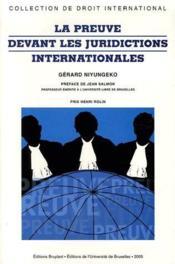 La preuve devant les juridictions internationales - Couverture - Format classique