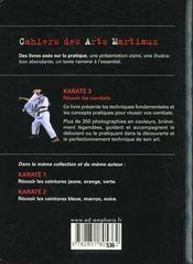 Karaté t.3 ; réussir les combats - 4ème de couverture - Format classique