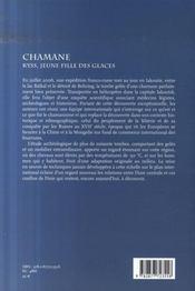 Chamane ; Kyys, jeune fille des glaces - 4ème de couverture - Format classique
