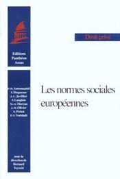 Normes Sociales Europeennes - Intérieur - Format classique