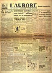 Aurore (L') N°515 du 13/04/1946 - Couverture - Format classique
