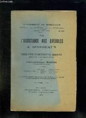 Faculte De Medecine Et De Pharmacie N° 107 Annee 1907 - 1908. De L Assistance Aux Aveugles A Bordeaux. - Couverture - Format classique