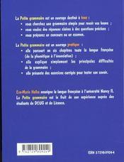 Petite Grammaire Francaise Avec Exercices Corriges - 4ème de couverture - Format classique
