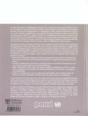 Rapport Mondial Sur Le Dev. Humain 2000 Droits De L'Homme Et Developpt Humain - 4ème de couverture - Format classique