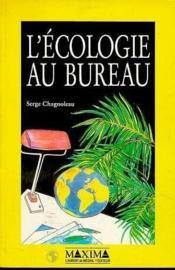 Ecologie Au Bureau - Couverture - Format classique