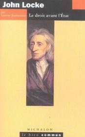 John locke ; le droit avant l'etat - Intérieur - Format classique