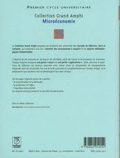 Microéconomie - 4ème de couverture - Format classique