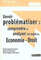 Savoir Problematiser ; Economie-Droit - Intérieur - Format classique